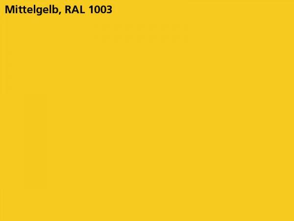 Plane & Spriegel HTK..31 mit Stahlbordwänden, LH 1600 mm, Farbe gelb