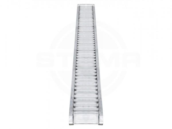 ALU-Auffahrrampen Set (1 Paar) inkl. Gleitschiene u. Kurbelstützen L=290 cm, 3100 kg belastbar pro Paar