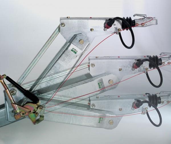 Höhenverstellbare Zugdeichsel (Kugelkopfkupplung / DIN-Zugöse nicht inclusive)