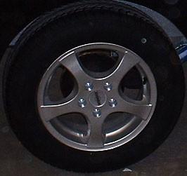 Rädersatz Alufelgen silber lackiert statt Stahlfelgen 15 Zoll (2000 bis 2700 kg)