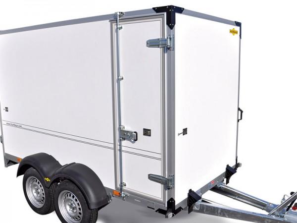 Seitentür bei Innenhöhe 2000 mm, 1860x600 mm, mit Drehstangenverschluss, links oder rechts möglich, immer vorn angeschlagen