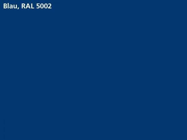 Plane & Spriegel HTK..27 mit Stahlbordwänden, LH 1600 mm, Farbe blau
