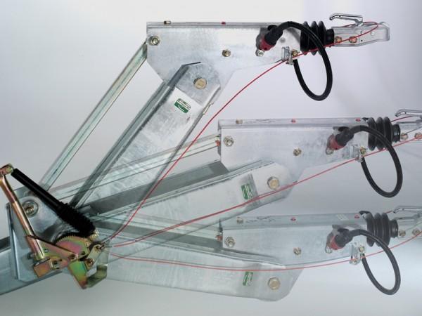 Höhenverstellbare Zugdeichsel (Kugelkopfkupplung und DIN-Zugöse nicht inklusive)