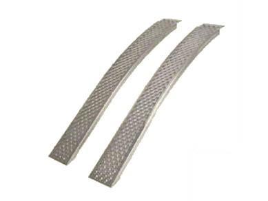 2 Aluminium-Auffahrschienen gebogen