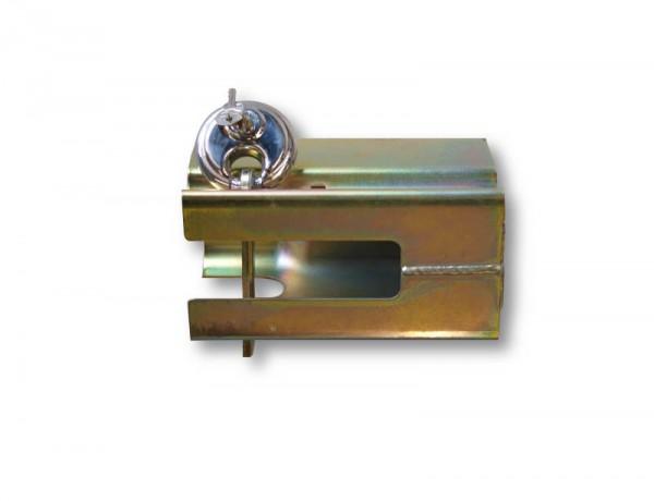 Metall-Absperrschuh mit Schloss für Auflaufeinrichtung bis 3,0 t.