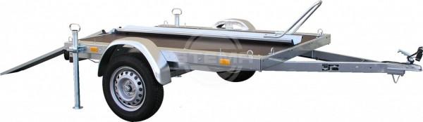 Motorradset (1 Auffahrschiene, 1 Transportschiene, 1 Paar Abstellstützen, 4 Verzurrbügel)