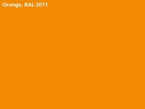 Flachplane orange bei Bordwandaufsatz