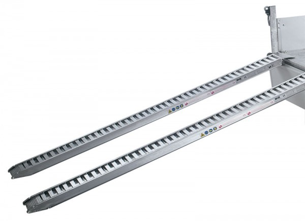 Aluminium-Bohlen 2,8 t Tragkraft, Länge 2650 mm (unter der Ladefläche)