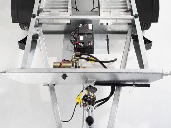 E-Pumpe kombiniert mit Not-Handpumpe bei HV-Deichsel
