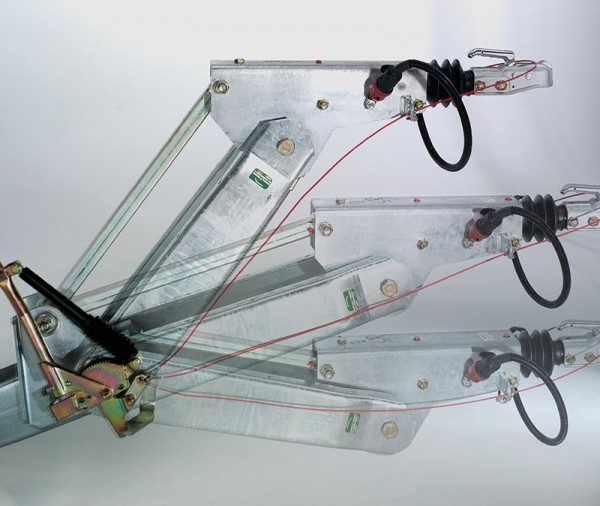 Höhenverstellbare Zugdeichsel (Kugelkopfkupplung / DIN-Zugöse nicht inklusive)