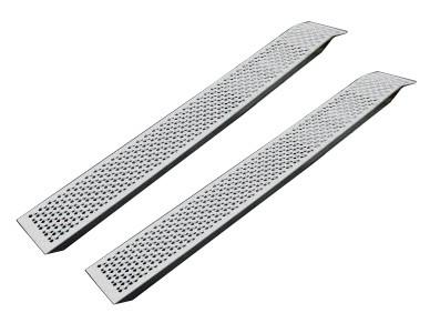 2 Aluminium-Auffahrschienen gerade